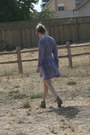 Heather-gray-target-boots-violet-vintage-dress