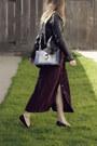 Black-marc-jacobs-bag-crimson-vintage-dress-black-steve-madden-loafers