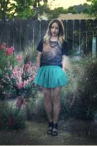 turquoise blue OASAP skirt - black Target wedges