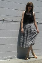 black thrifted skirt - neutral Target wedges - black DIY top