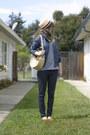 Blue-ross-jacket-light-yellow-forever-21-hat-light-yellow-ebay-bag