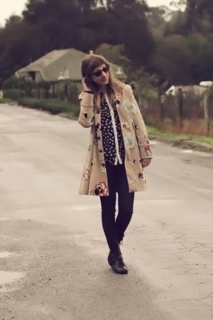Anthropologie coat - Macys boots
