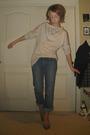Blue-element-denim-jeans-orange-vintage-from-crossroads-shoes-beige-self-mad