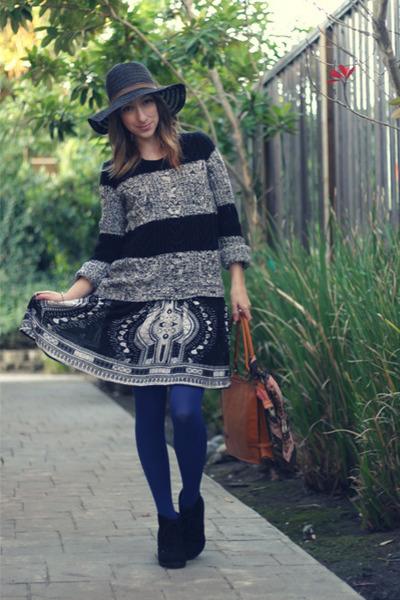 dark gray sale Gap sweater - black Wet Seal boots - black Ross dress