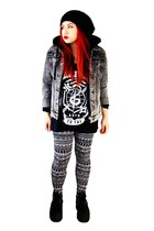 acid wash denim lira jacket - aztec Empyre leggings