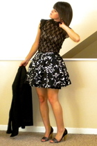 Express blazer - XOXO dress - Forever21 skirt - lanvin shoes