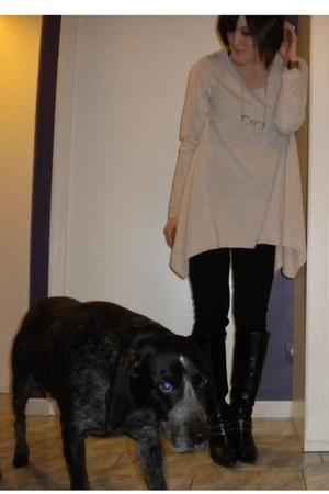 H&M sweater - camaieu leggings - payless boots