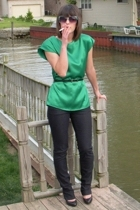 vintage blouse - Forever21 jeans - Christian Louboutin shoes - accessories