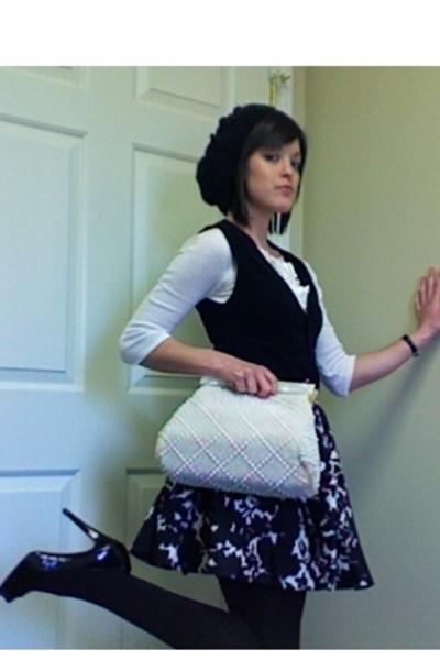 Forever21 skirt - bitten sweater - Christian Louboutin shoes - purse
