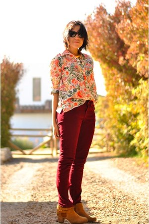 brick red Topshop jeans