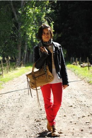 Zara jeans - MNG jacket - balenciaga bag - H&M t-shirt