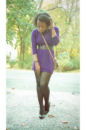 Forever 21 dress - Forever 21 bag - Bumper heels - Forever 21 belt