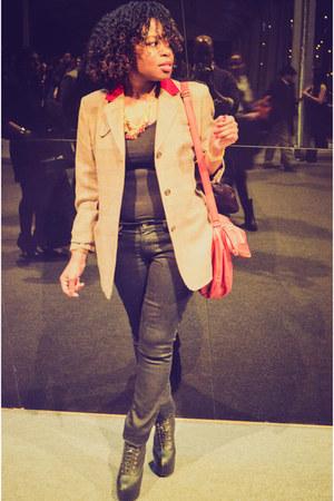 black Old Navy jeans - brick red Forever21 bag - black Bella top