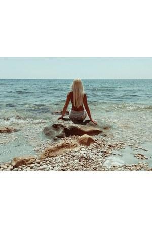 white hoter skirt - black Sixty6 swimwear