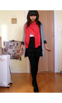Gap - Express - skirt - H&M scarf - American Eagle t-shirt - Target tights