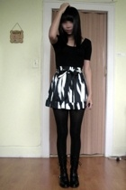 etienne aigner boots - American Apparel dress - forever 21 skirt
