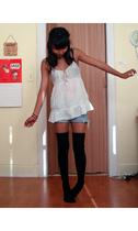 American Eagle blouse - delias shorts - Target socks