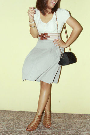 shirt - vintage skirt - Charles and Keith shoes - Bayo belt - vintage accessorie