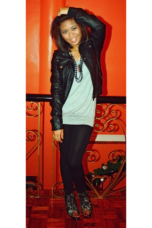tonic boots - Topshop jacket - brandless leggings - Bayo
