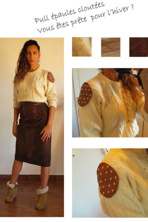 skirt - APC boots - Shetland sweater