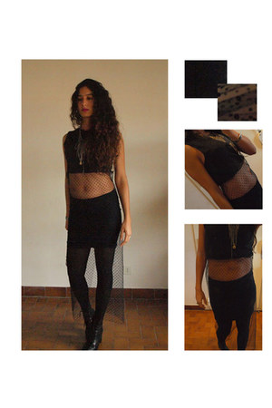 black leather THE WHITEPEPPER boots - black no brand dress