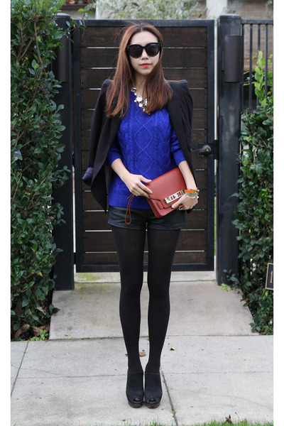 H&M sweater - stuart weitzman shoes - Zara blazer - PROENZA SCHOULER bag