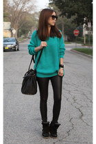 Nameless sweater - Isabel Marant shoes - American Apparel leggings