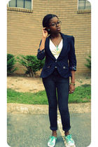 blue kohls blazer - black Urban Outfitters jeans - blue Keds shoes