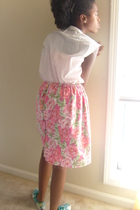 blouse - self-made skirt - Keds shoes - Forever21 shirt