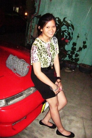 Mango blouse - black Mango skirt - black random shoes - gray From Bazaar purse -