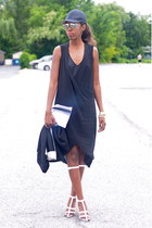 Summer cold days outfit: All black + Alexander Wang Aline sandals SS13
