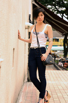 Forever21 top - American Apparel bra - jeans - GoJane shoes - Dorothy Perkins be