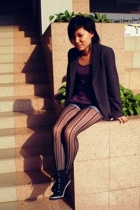 blazer - Mango top - cotton on shorts - Dorothy Perkins stockings - gojanecom sh