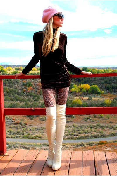 leopard Express tights - beige Christian Louboutin boots