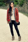 Pleather-dailylook-leggings-forever21-shirt-stripes-gap-cardigan