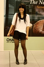 White-marks-and-spencers-blouse-black-from-taiwan-black-ip-zone-shorts-bla
