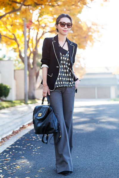 Elizabeth and James blazer - Marc by Marc Jacobs bag - Theory pants - Parker top