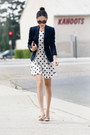 Topshop-dress-jcrew-blazer-clare-vivier-bag-tom-ford-sunglasses