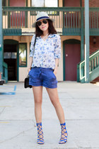 Joie shorts - Joie blouse - Schutz sandals