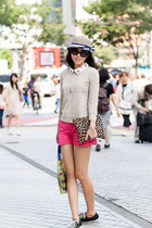 JCrew sweater - Clare Vivier bag - JCrew shorts - Converse sneakers