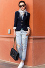 One-teaspoon-jeans-jcrew-blazer-karen-walker-sunglasses-converse-sneakers