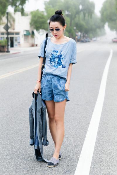 Richard Chai Love blazer - stylestalker shorts - ray-ban sunglasses