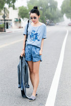 Richard Chai Love blazer - stylestalker shorts - ray-ban sunglasses