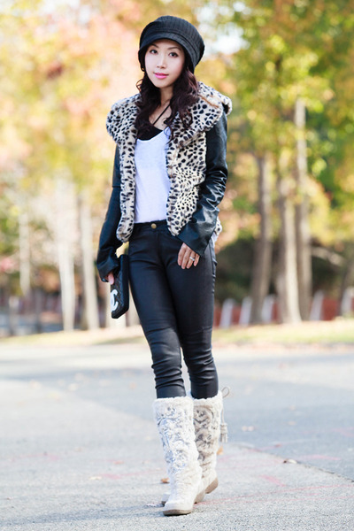 One Teaspoon jacket - sam edelman boots - Current Elliott pants