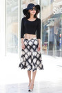 Full-skirt-banana-republic-skirt-fall-blazer-kate-spade-bag-leith-top