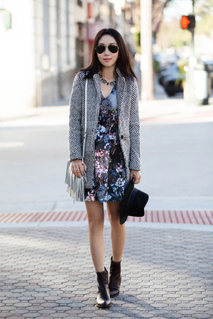 Sheinside coat - Topshop dress