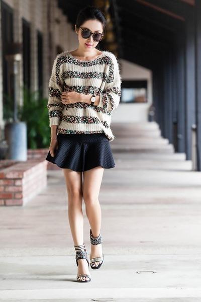 Anthropologie sweater - Zara shirt - Jeffrey Campbell heels