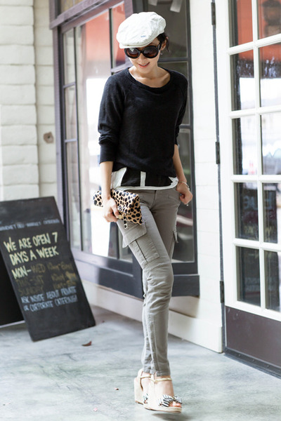 J Brand jeans - Clare Vivier bag - Prada sunglasses - kate spade wedges