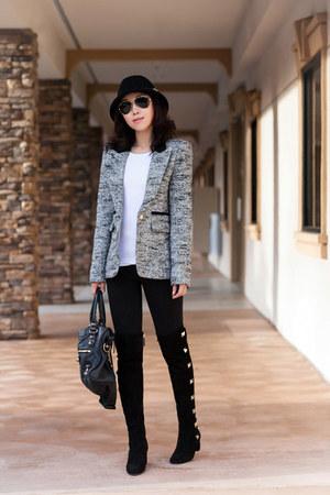 smythe blazer - Valentino boots - balenciaga bag