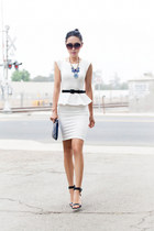 Alice  Olivia dress - Tom Ford sunglasses - JCrew necklace - Tibi Edita heels